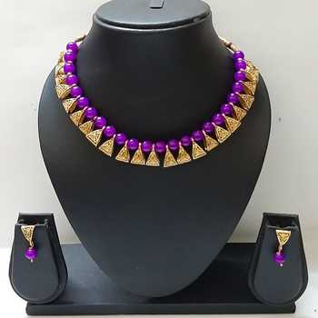 Purple necklaces