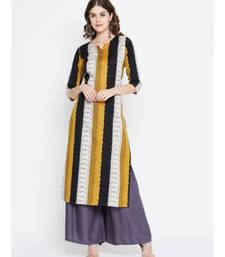 multicolour cotton straight kurti