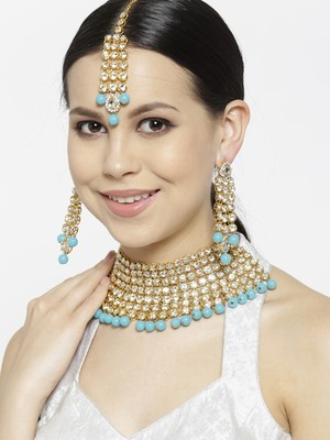 Turquoise cubic zirconia necklace-sets
