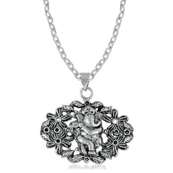 Silver crystal pendants