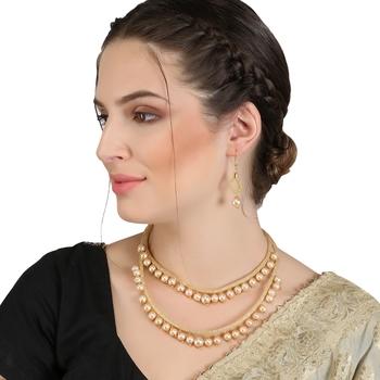 off-wight cubic zirconia necklaces