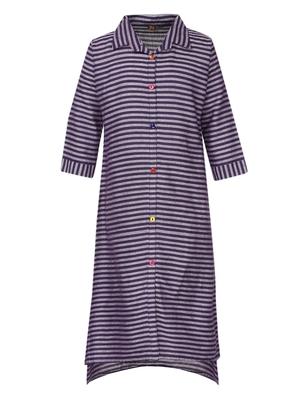 Purple plain cotton kids-kurtis