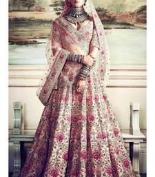 Peach Colored Wedding Bridal Designer Heavy Lehenga Choli With Dupatta