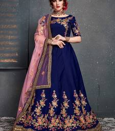 Mesmerizing Blue Embroidered Wedding Designer Bridesmaid Lehenga Choli With Dupatta