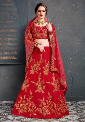 Gorgeous Red Embroidered Wedding Designer Bridesmaid Lehenga Choli with Dupatta