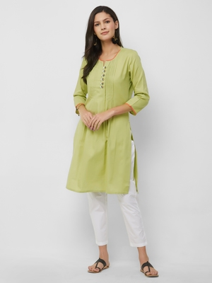 Women's The Anshumi Kurti in Handloom Cotton