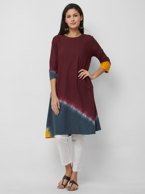 Women's The Aanavi Kurti in Tie Dye Cotton