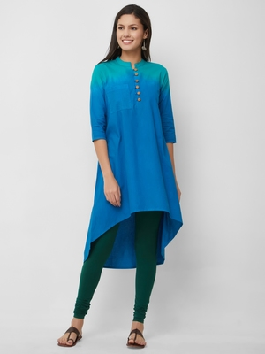 Women's The Raya Kurti in Tie Dye Cotton