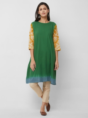 Women's The Jena Kurti in Tie Dye Cotton