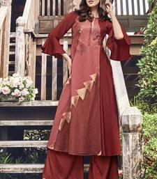 Brown Jacquard Islamic Tunics