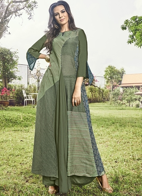 Olive Jacquard Islamic Tunics