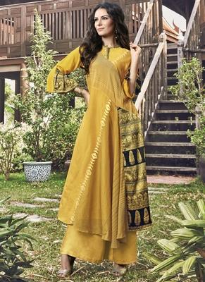 Yellow Jacquard Islamic Tunics