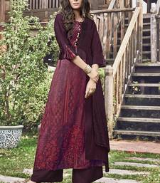 Maroon Jacquard Islamic Tunics