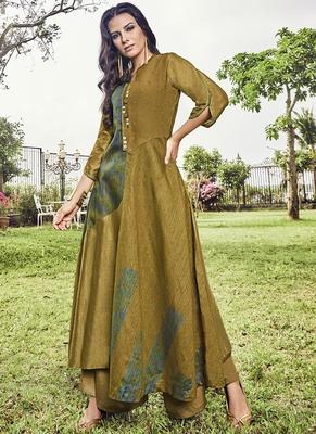 Mustard Jacquard Islamic Tunics