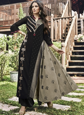 Black Jacquard Islamic Tunics