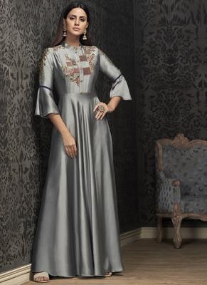 Grey Georgette Islamic Tunics