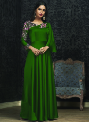 Green Georgette Islamic Tunics