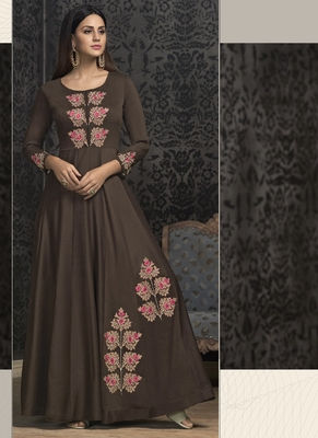 Brown Silk Islamic Tunics