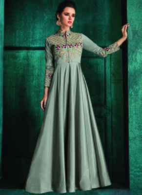Grey Silk Islamic Tunics