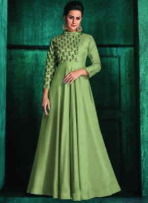 Olive Silk Islamic Tunics