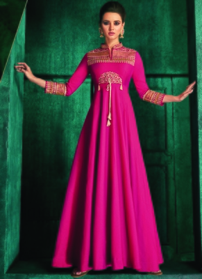 Rani Pink Silk Islamic Tunics