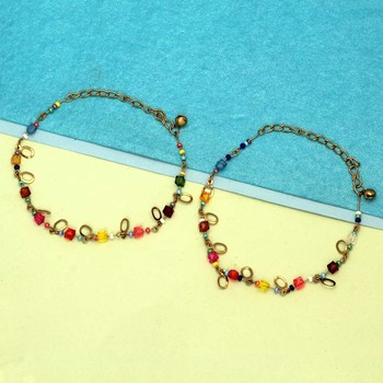 Multicolor anklets