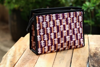 3 Compartment Cotton Batik Pouch