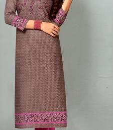 Purple Rayon Long Kurtis