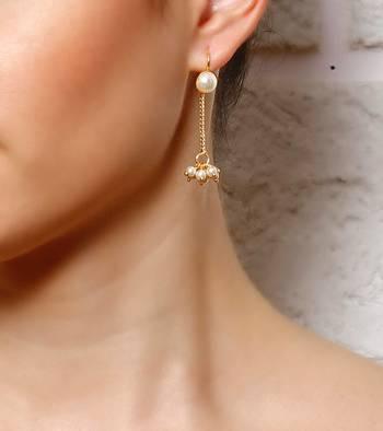 Pearl Drops Gucchi Dangler Earrings