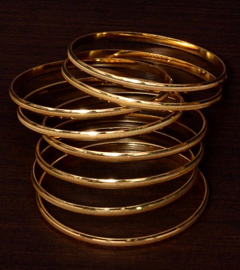Gold Plated Traditional Bangle Set for Women BD396
