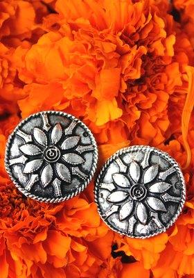 German Silver Oxidized Earrings