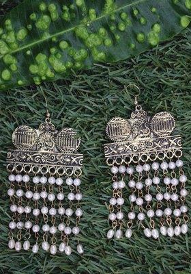 Gold Plated Long Tassel Earring