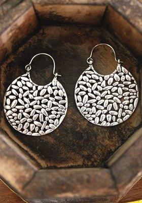 German Silver Tribal Earring