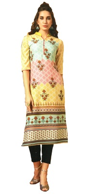 multicolor rayon long kurtis
