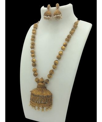Gold plated temple necklace sets