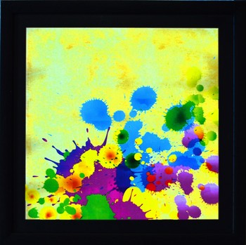 Colorful Paint Spots Satin Matt Texture UV Art Painting