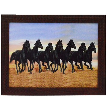Running Lucky Horses Design Satin Matt Texture UV Art Painting