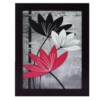 Flowers Design Satin Matt Texture UV Art Painting
