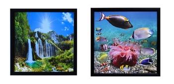 Set of Natural Scenary and Sea View Satin Matt Texture UV Art Painting