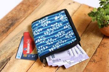 Cotton Batik Pocket Wallet