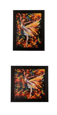 Set of 2 Satin Matt Texture UV Art Painting