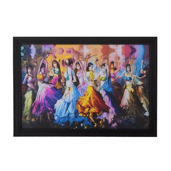 Group Dandia Scene Satin Matt Texture UV Art Painting
