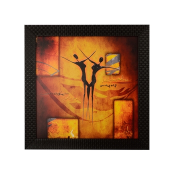 Abstract Dance Scene Satin Matt Texture UV Art Painting