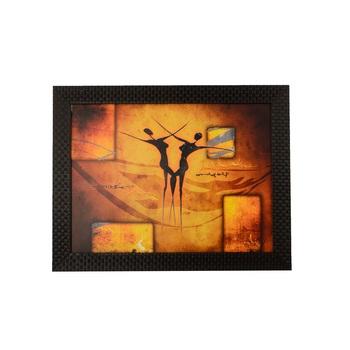 Abstract Dance Scene Satin Matt Texture UV Art Painting