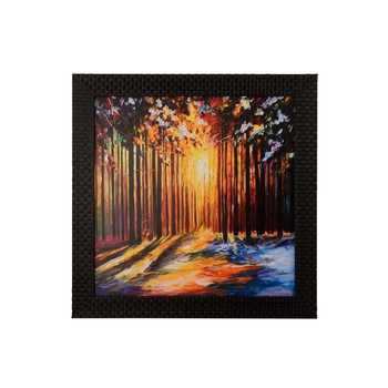 Coloful Leaf view in Sunlight Satin Matt Texture UV Art Painting
