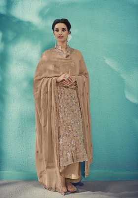 Chiku embroidered cotton salwar