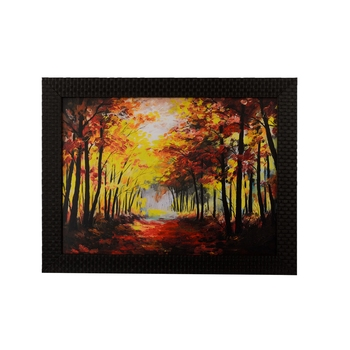 Fall Season Scenary View Satin Matt Texture UV Art Painting