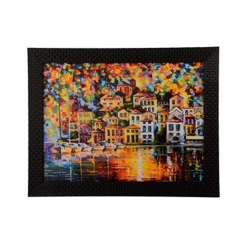 Colorful City View Satin Matt Texture UV Art Painting