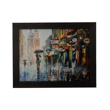 Rainy Season View Satin Matt Texture UV Art Painting