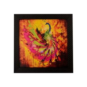 Colorful Peocock Satin Matt Texture UV Art Painting